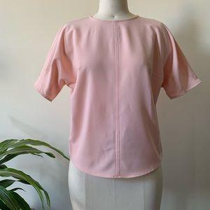 Who What Wear blush blouse
